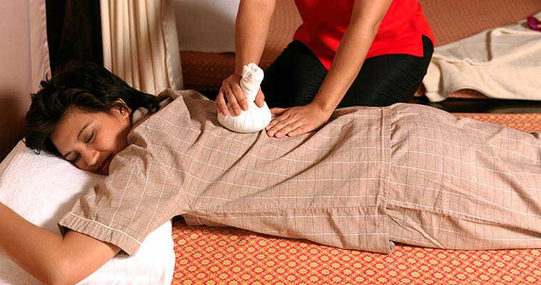 Back, Neck and Shoulder Massage with Hot Compress